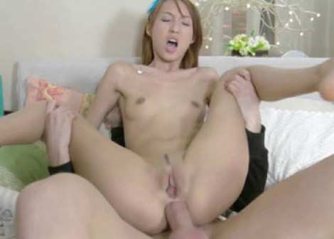 Tatiana gets her Asian twat filled with cum