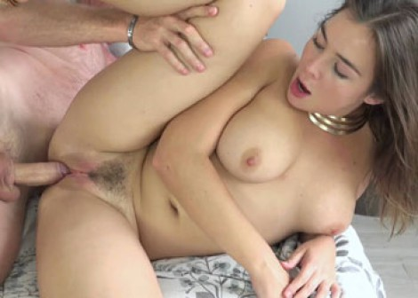 Busty brunette Blair screws an older guy